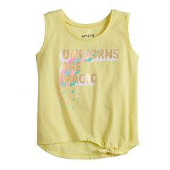 3db68346 Toddler Girl Jumping Beans® Knot-Front Tank Top