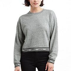 Women's Levi's® Logo Trim Fleece Sweatshirt