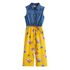 Girls 7-16 & Plus Size Knitworks Colorblock Chambray Jumpsuit