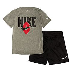 Baby Boy Nike Dri-FIT Tee & Shorts Set