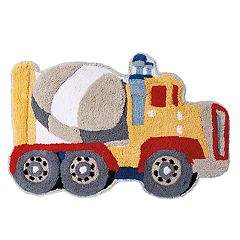 Trains & Trucks Bath Rug