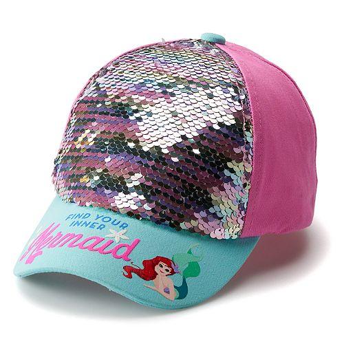 edfd79abb Disney's The Little Mermaid Ariel Girls 4-6x Flip Sequin Baseball Cap