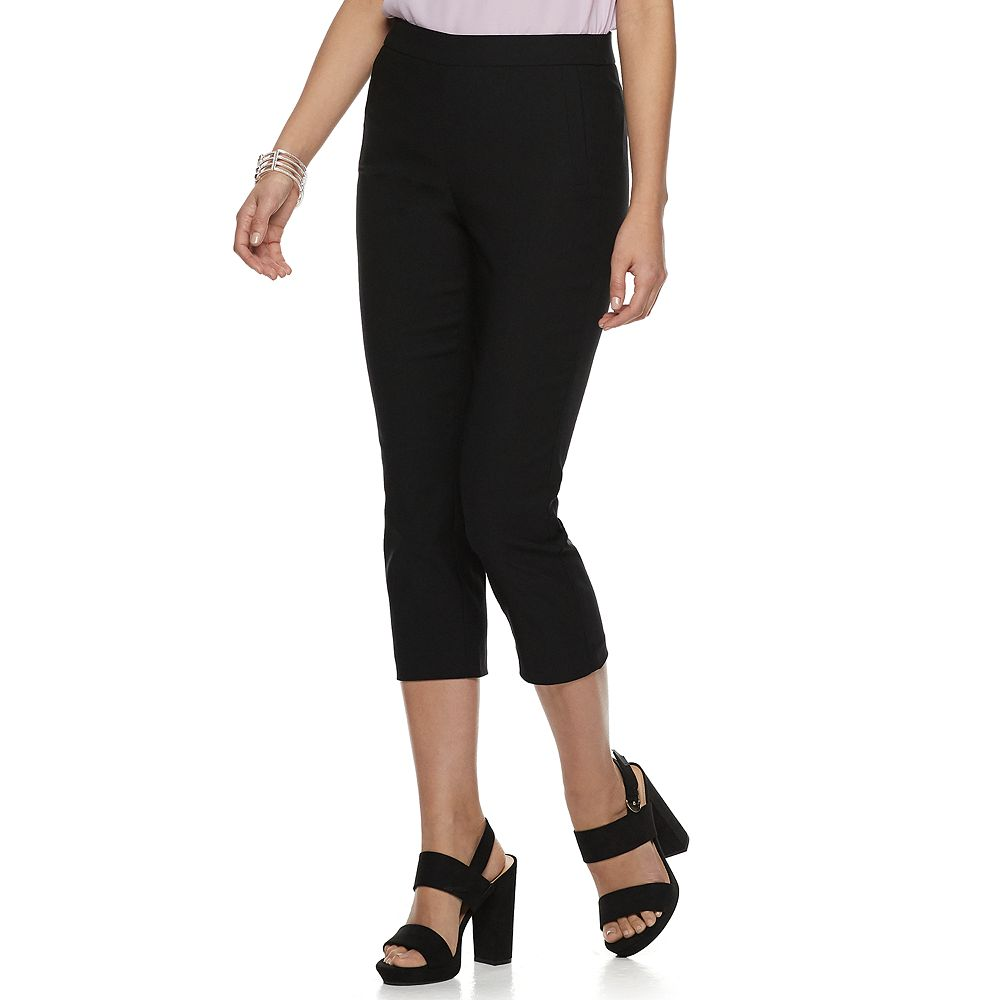 Women's ELLE™ Twill Pull-On Capri Pants
