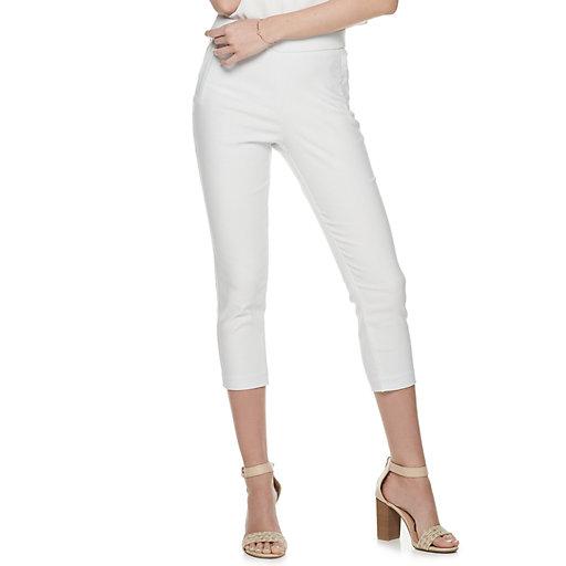 be221af8bb Women's ELLE™ Twill Pull-On Capri Pants