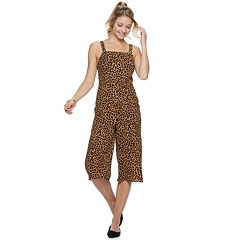 Juniors' Love, Fire Leopard-Print Strappy Jumpsuit