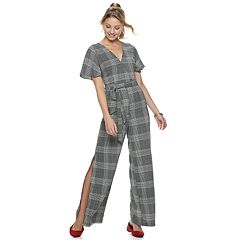 Juniors' Love, Fire Printed Wrap Jumpsuit