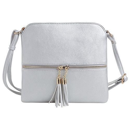Deluxity Tasseled Flat Mini Crossbody Bag