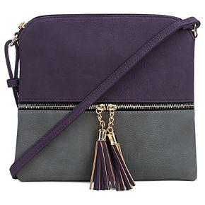Deluxity Colorblock Flat Crossbody Bag