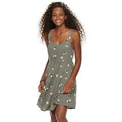 Juniors' Womens SO® Paneled Sleeveless Tank Dress