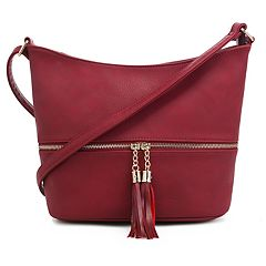 Deluxity Hobo Crossbody Bag with Tassel