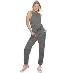 Juniors' Love, Fire Sleeveless Hacci Jumpsuit