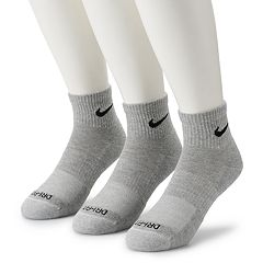Men's Nike 3-pack Everyday Plus Cushion Ankle Training Socks