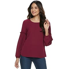 Women's ELLE™ Ruffle Balloon-Sleeve Top
