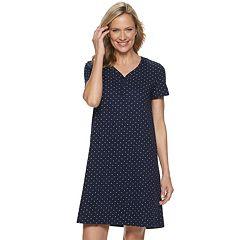 8b7154db1a5 Women s Croft   Barrow® Henley Knit Sleepshirt