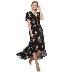 Juniors' American Rag Faux Wrap Maxi Dress