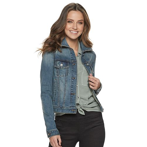 Women's Rock & Republic® Destructed Denim Jacket