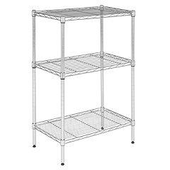 Safavieh Sierra 3-Tier Chrome Shelf