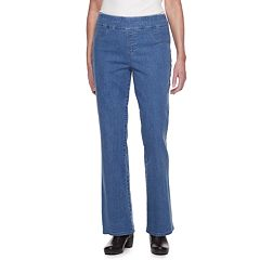 Women's Croft & Barrow® Comfort Waist Pull-On Bootcut Jeans