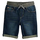 Boys 4-12 SONOMA Goods for Life? Pull On Knit Cuffed Denim Shorts