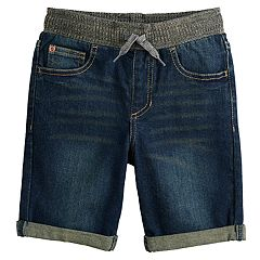 Boys 4-12 SONOMA Goods for Life™ Pull On Knit Cuffed Denim Shorts