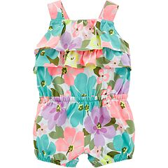 Baby Girl Carter's Floral Ruffled Romper