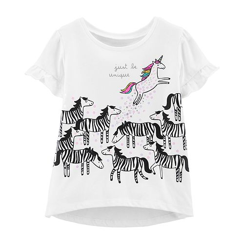 Baby Girl Carter's Ruffled Graphic Top