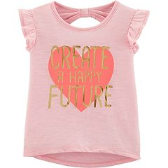 5eacd1ae5 Baby Girl Carter's Flutter Top. Pink Light Pink