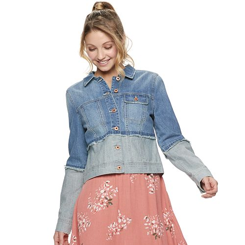 Juniors' American Rag Contrast Denim Jacket
