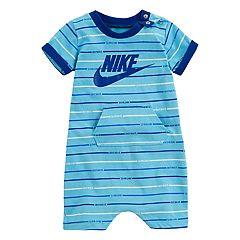 Baby Boy Nike Striped Jersey Romper