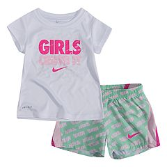 Baby Girl 2-piece Dri-FIT Graphic Tee & 10K Shorts Set