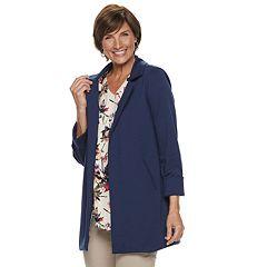 Women's Dana Buchman Roll-Cuff Ponte Coat