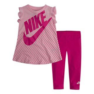 Baby Girl Nike 2-Piece Logo Tunic Top & Leggings Set