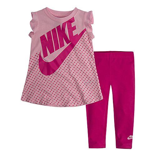 85169c9ca9784 Baby Girl Nike 2-Piece Logo Tunic Top   Leggings Set
