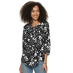 Women's SONOMA Goods for Life™ Challis Lace-Up Top