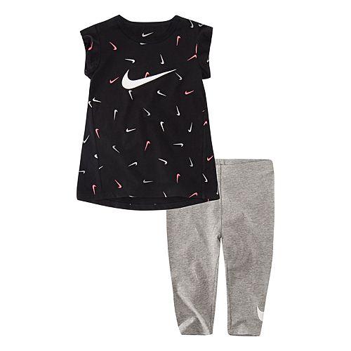 d839070d0f1e64 Baby Nike 2-piece Tunic Top & Capri Leggings Set