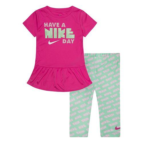 Baby Girl Nike 2-piece Dri-FIT Tunic Top & Capri Leggings Set