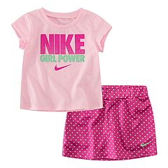 Baby Girl Nike 2-piece 'Girl Power' & Skort Skirt Set