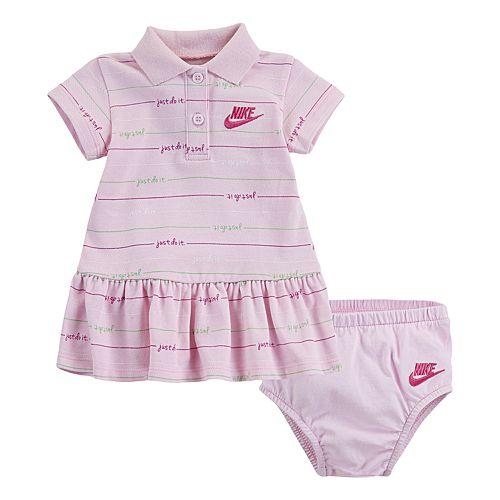 Baby Girl Nike Striped Polo Dress & Bloomer Set