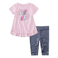 Baby Girl Nike Dri-FIT 'Just Do It' Tunic & Leggings Set