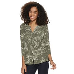 Women's SONOMA Goods for Life™ Printed Splitneck Top