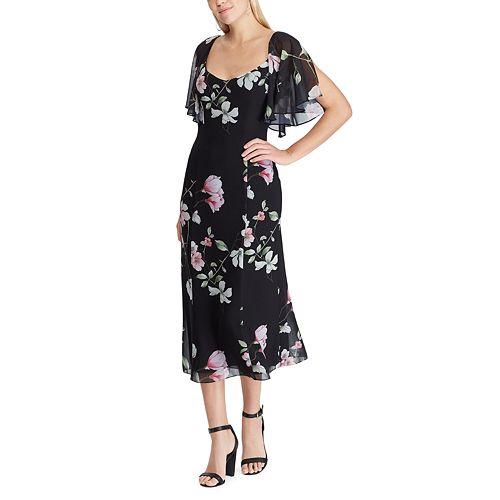 Women's Chaps Floral Fit & Flare Midi Dress