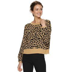 Women's Apt. 9® Balloon-Sleeve Cheetah Print Top