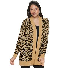 Women's Apt. 9® Cheetah Print Cardigan