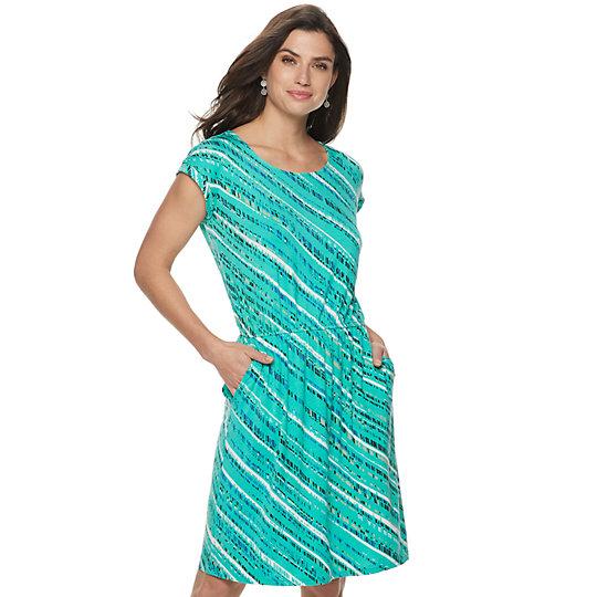 e692dfca5b0 Women s Apt. 9® Cinch Waist T-Shirt Dress