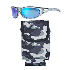 10411eab40a556 Men s Panama Jack Crystal Black Multi Layer Blue Mirror Sunglasses