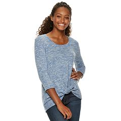 Juniors' Candie's® Twist Knot Front Top