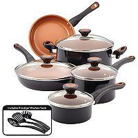 Deals on Farberware Glide 12-pc. Copper Ceramic Nonstick Cookware Set