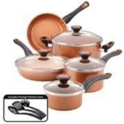 Farberware Glide 12-pc. Copper Ceramic Nonstick Cookware Set