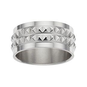 1913 Men's Stainless Steel Studded Ring
