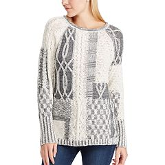 Women's Chaps Patchwork Crewneck Sweater